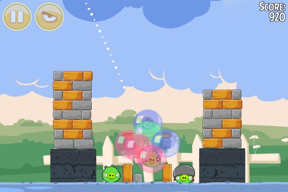 Angry Birds Seasons Back to School Level 1-5 Pink Bird In Action