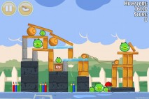 Angry Birds Seasons Back to School Level 1-7 Walkthrough