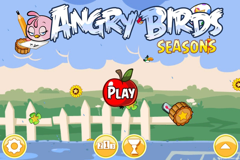 Angry Birds Seasons Back to School Main Screen