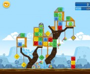 Angry Birds Chrome Logo Location Level 13-2