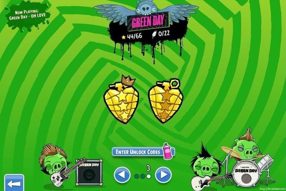 Angry Birds Friends Green Day Golden Grenade Page 2