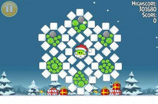 Angry Birds Seasons Greedings Golden Egg #1 Walkthrough