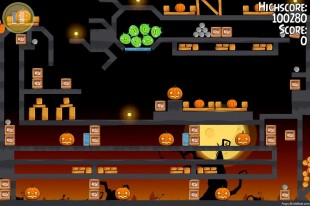 Angry Birds Seasons Trick or Treat Golden Egg #3 Walkthrough