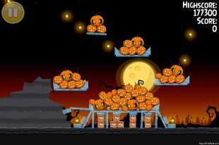 Angry Birds Seasons Trick or Treat Golden Egg #4 Walkthrough