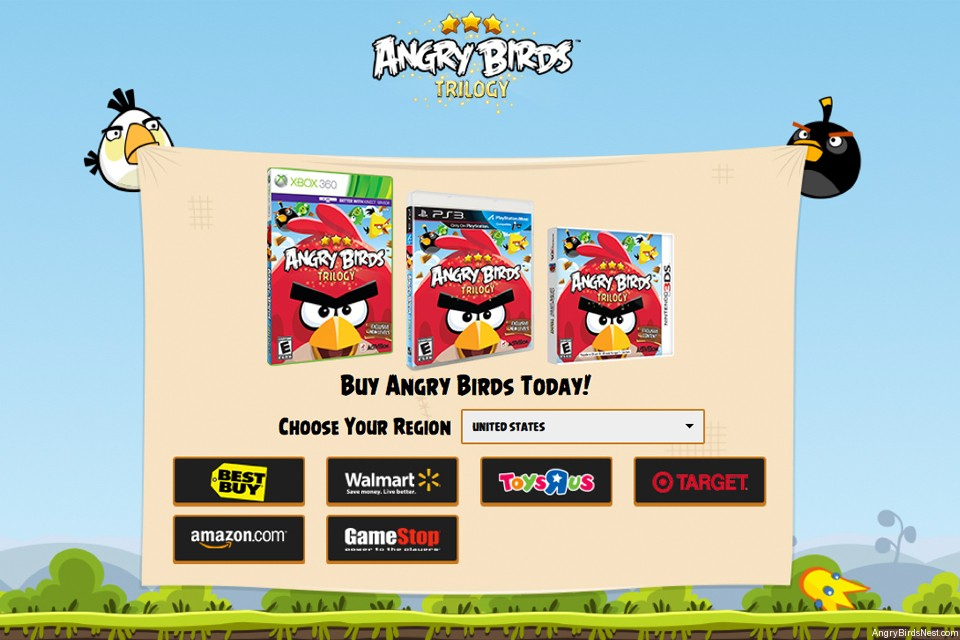 Angry Birds Trilogy Shop