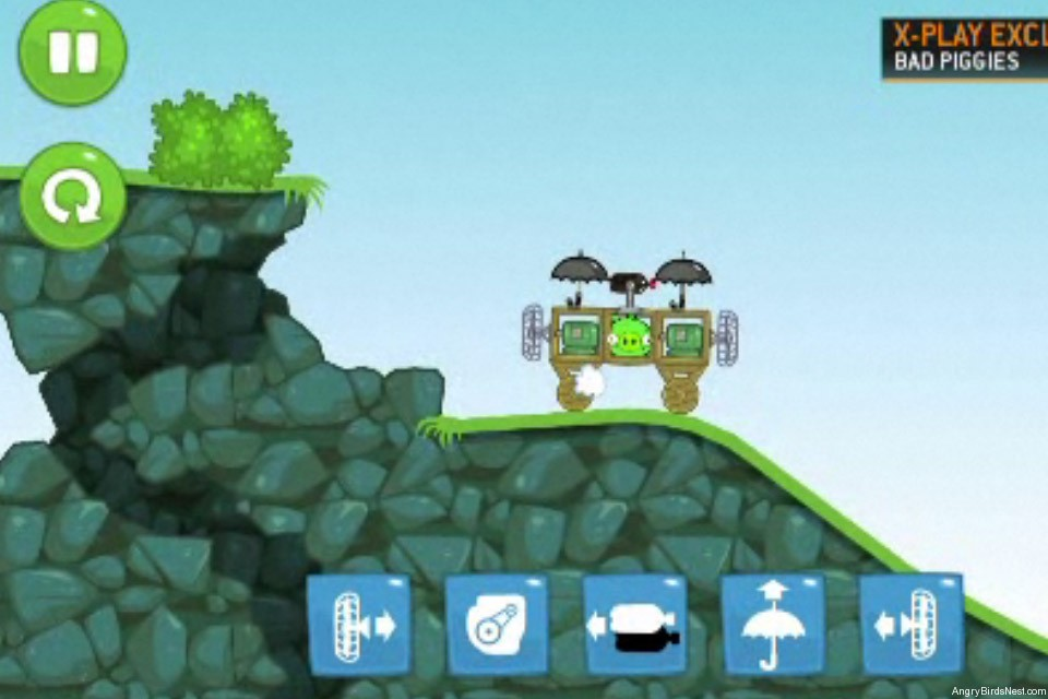 Bad Piggies Fisrt Look G4 Controls Screen