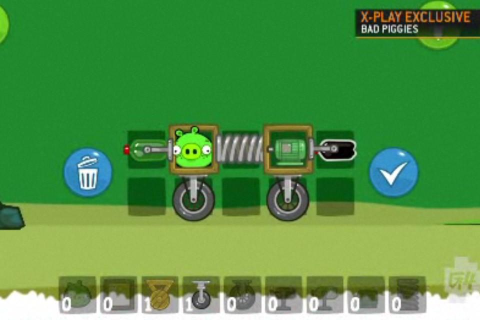 Bad Piggies Fisrt Look G4 Level Entry Vehicle Creation Screen