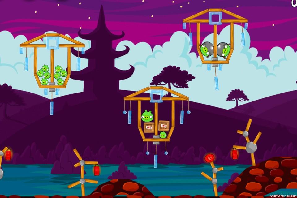 Angry Birds McDonalds MoonCake Level 1 Image