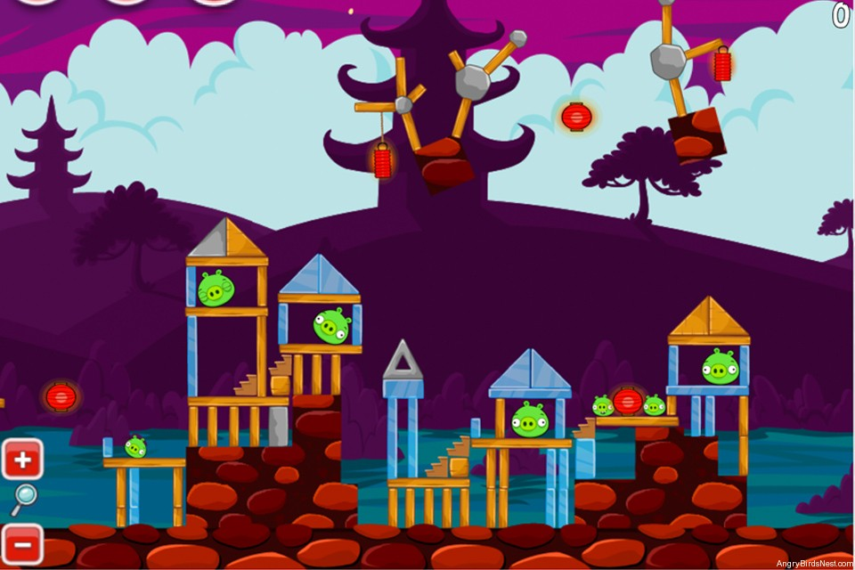 Angry Birds McDonalds MoonCake Teaser Level Image