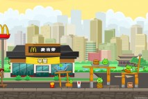 Angry Birds McDonald's Teaser Level 1 Walkthrough
