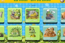 Bad Piggies Cookbook App Recipe Selection Screen
