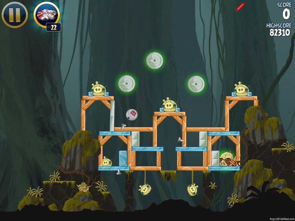 Angry birds star wars path of the jedi level j 8 - Angry birds star wars 8 ...