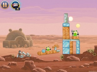Angry Birds Star Wars Tatooine Level 1-2 Walkthrough
