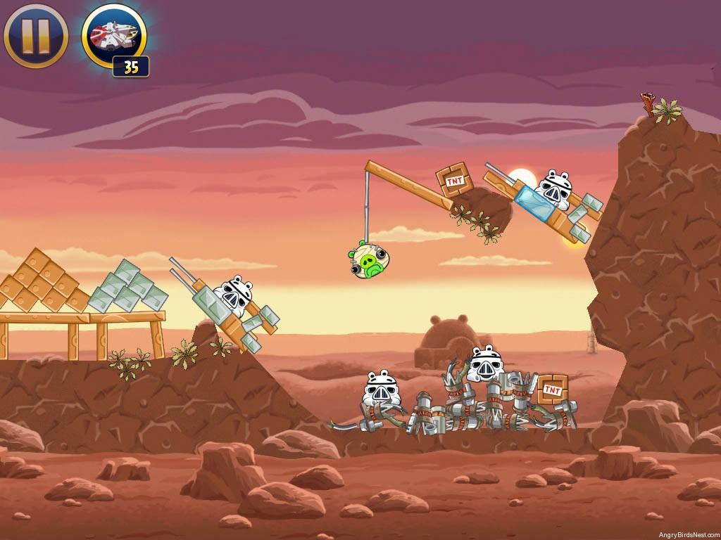 Angry birds star wars tatooine level 1 8 walkthrough - Angry birds star wars 8 ...