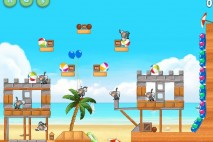 Angry Birds Rio Beach Volley Eagle Bonus Walkthrough Level 3