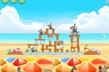 Angry Birds Rio Beach Volley Star Bonus Walkthrough Level 7