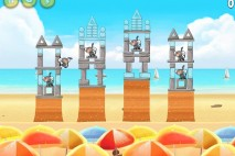 Angry Birds Rio Beach Volley Star Bonus Walkthrough Level 8