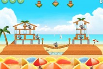Angry Birds Rio Beach Volley Star Bonus Walkthrough Level 9