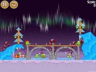 Angry Birds Seasons Winter Wonderham Level 1-1 Walkthrough