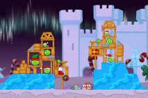 Angry Birds Seasons Winter Wonderham Level 1-4 Walkthrough