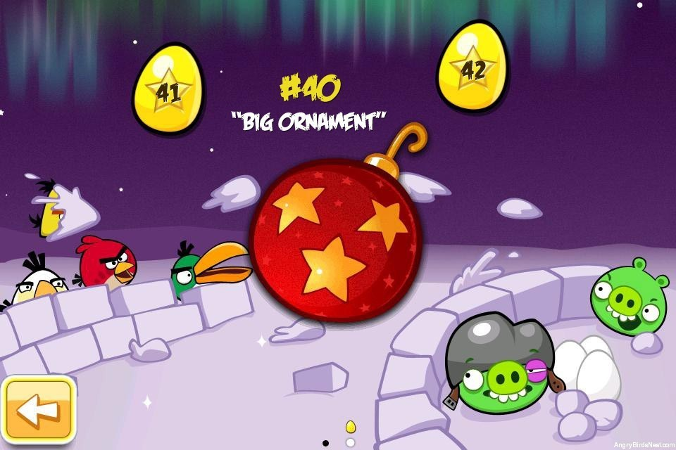 Angry Birds Seasons Winter Wonderham Golden Eggs