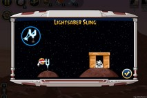 Angry Birds Star Wars Facebok Lightsaber Sling Power Up Instruction Screen