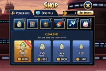 Angry Birds Star Wars Facebok Shop Purchase Clone Bird Screen