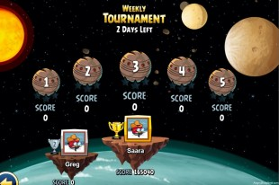 Angry Birds Star Wars Facebok Weekly Tournament Level Selection Screen