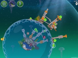 Angry Birds Space Pig Dipper Level 6-25 Walkthrough