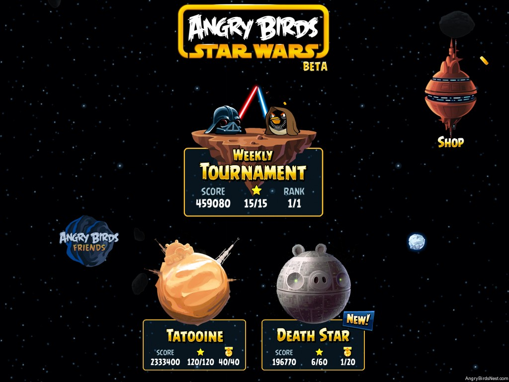 Angry birds star wars facebook updated with 20 new levels - Angry birds star wars 7 ...