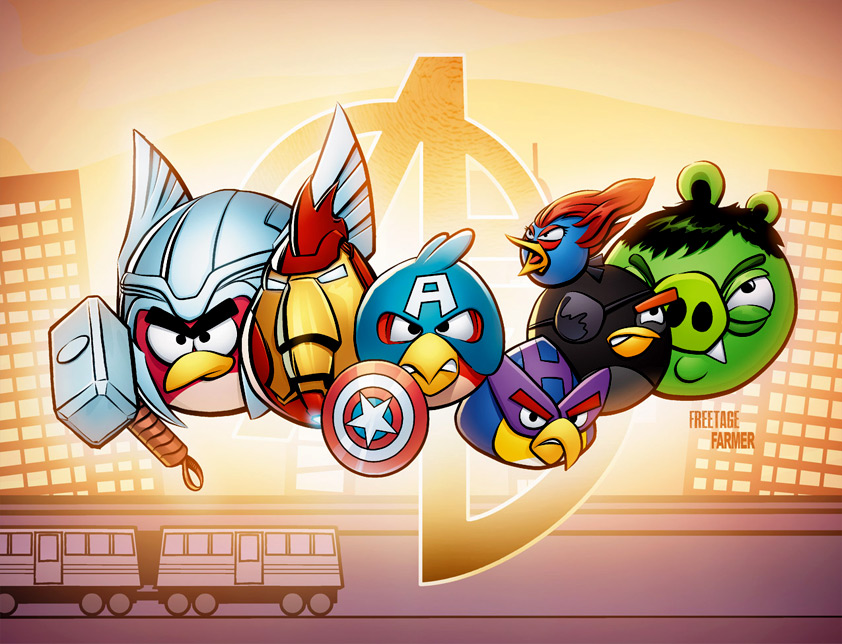 Angry Avengers by phxwebguy