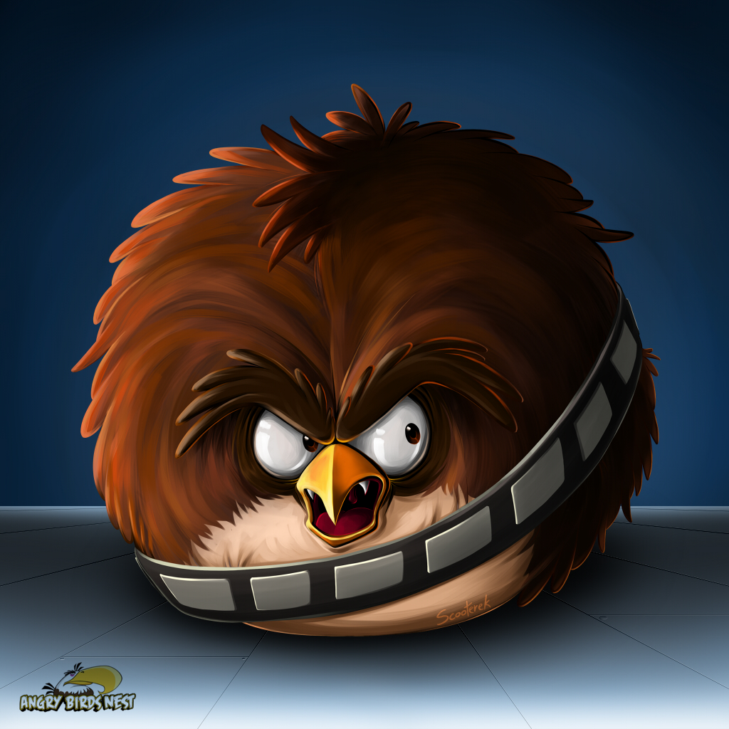 Exclusive Angry Birds Star Wars Wallpaper Set 1 Chewbacca