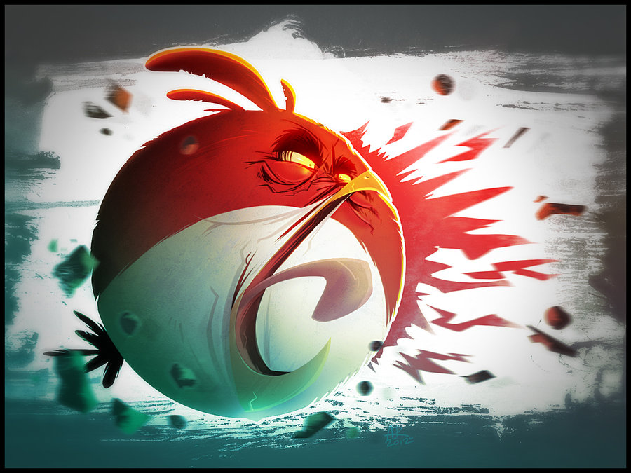 Very Angry Red Bird by SkiddMcMarxx