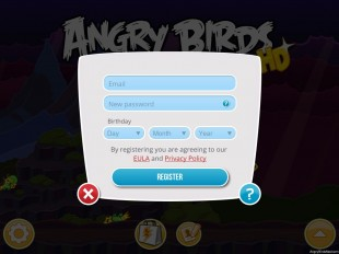 Register for your Rovio Account