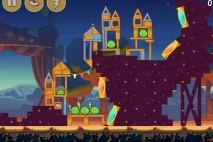 Angry Birds Seasons Abra-Ca-Bacon Level 1-4 Walkthrough