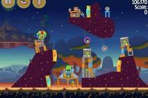 Angry Birds Seasons Abra-Ca-Bacon Level 2-2 Walkthrough