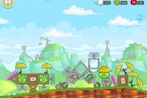 Angry Birds Red's Mighty Feathers Level F-3 Walkthrough