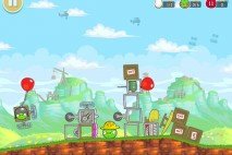 Angry Birds Red's Mighty Feathers Level F-4 Walkthrough