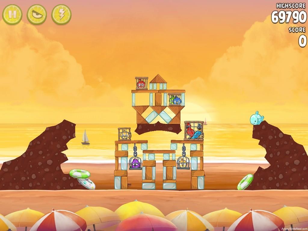 angry birds rio golden beachball walkthrough level 29 angrybirdsnest. Black Bedroom Furniture Sets. Home Design Ideas