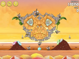Angry Birds Rio Golden Beachball Walkthrough Level #30