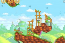 Angry Birds Red's Mighty Feathers Level 24-13 Walkthrough