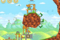 Angry Birds Red's Mighty Feathers Level 24-14 Walkthrough