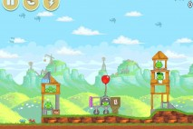 Angry Birds Red's Mighty Feathers Level 24-4 Walkthrough