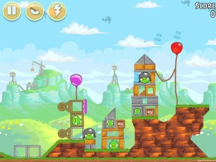 Angry Birds Red's Mighty Feathers Level 24-9 Walkthrough