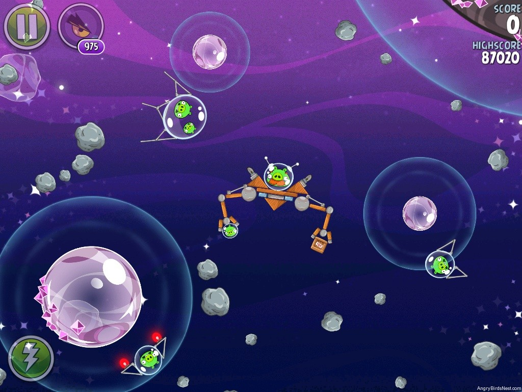 Angry Birds Space Cosmic Crystals Level 7-29 Walkthrough ...