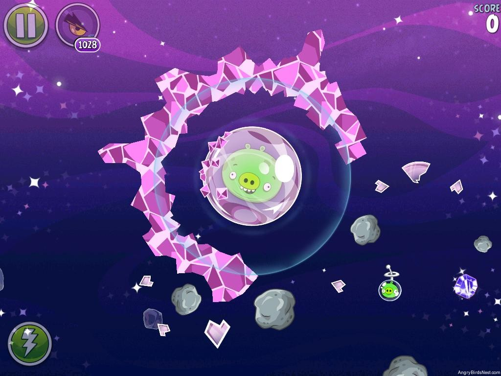 Angry birds space cosmic crystals level 7 3 walkthrough - Angry birds space gratuit ...