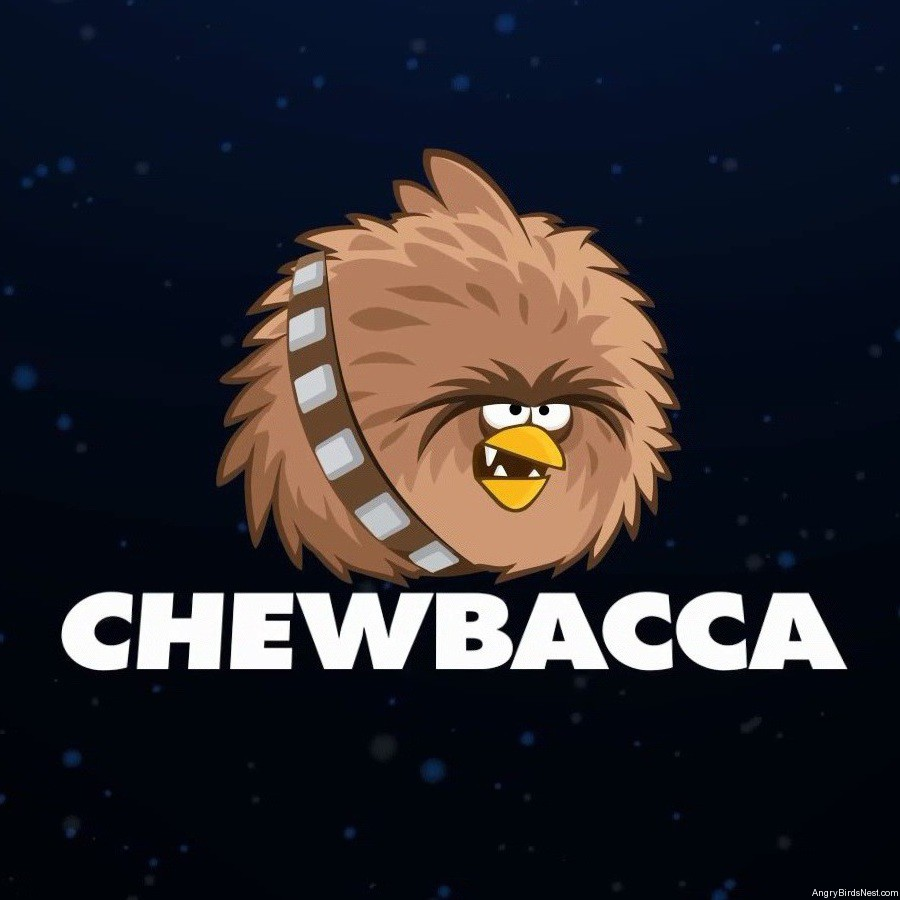 angry birds star wars 2 characters chewbacca angrybirdsnest. Black Bedroom Furniture Sets. Home Design Ideas