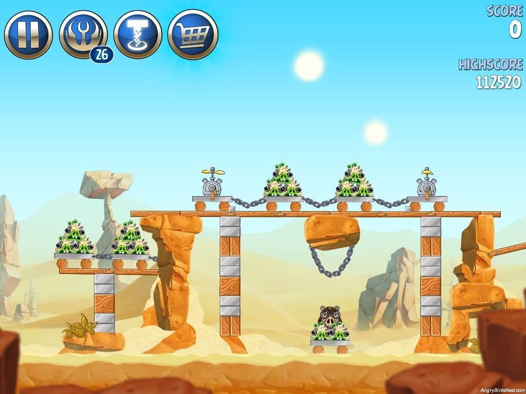 Angry Birds Star Wars 2 Escape To Tatooine B2-10 Treasure ...