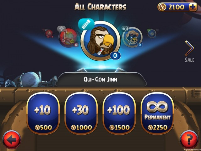 Angry Birds Star Wars 2 Wattos Shop All Characters Qui-Gon Jinn