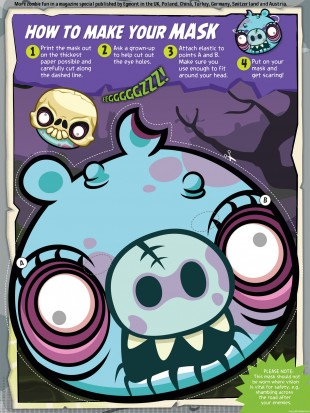 Angry Birds Zombie Pig Mask Template Full Screenshot